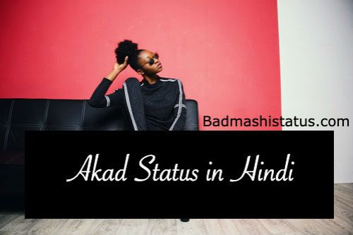 Akad Status in Hindi 2020 | Akad Aukat Attitude Status in Hindi